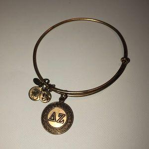 Alex and Ani gold Delta Zeta bracelet